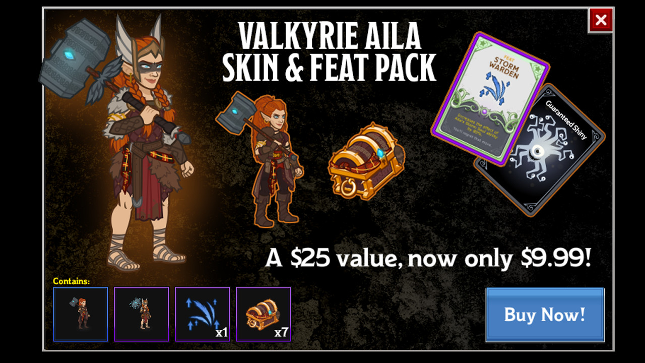 Idle Champions - Valkyrie Aila Skin & Feat Pack screenshot