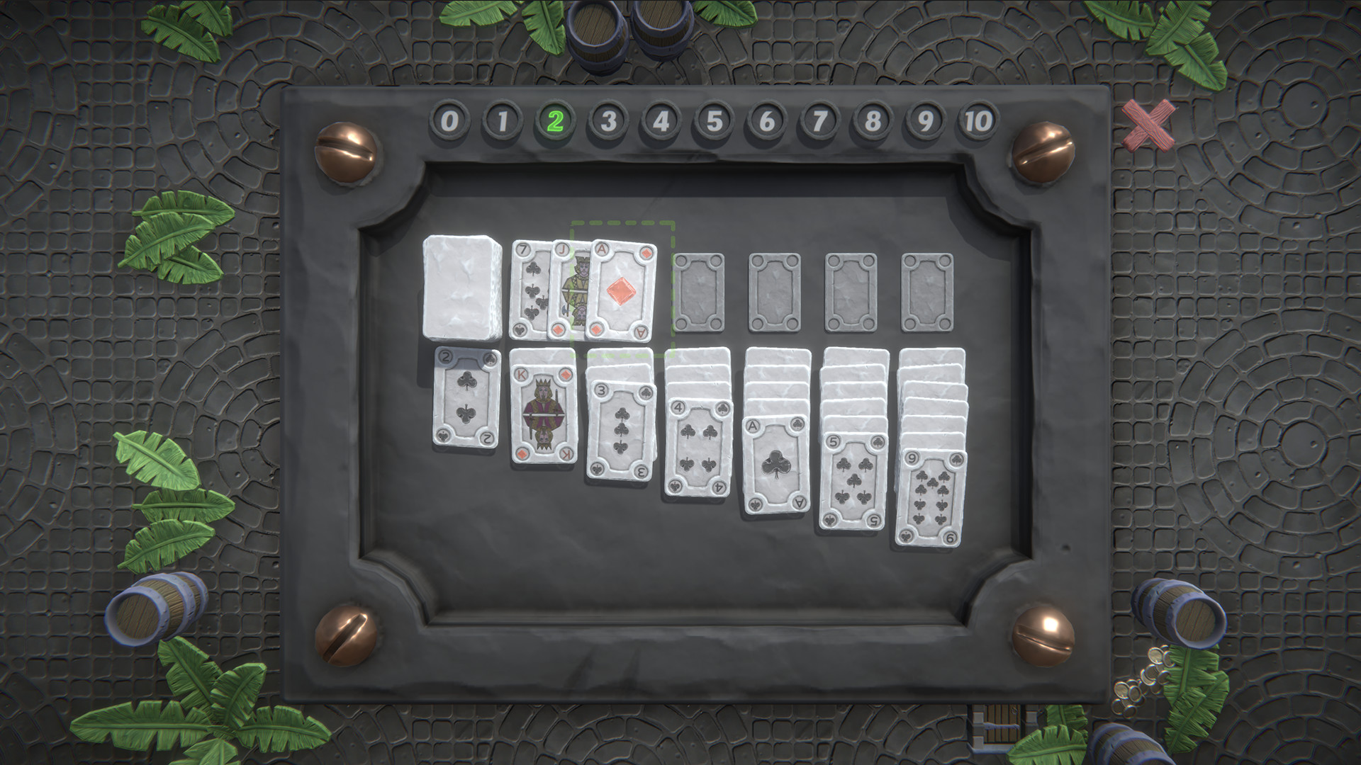 Nofrills Klondike Solitaire screenshot