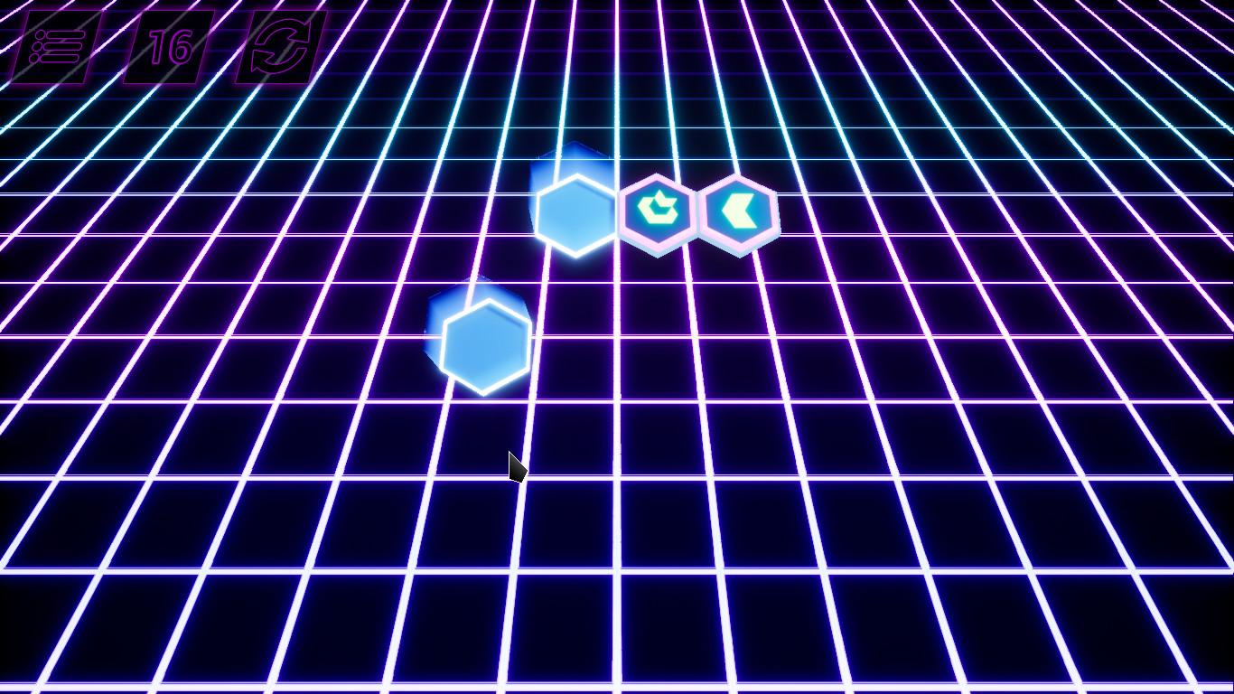 Retrowave Hexon screenshot