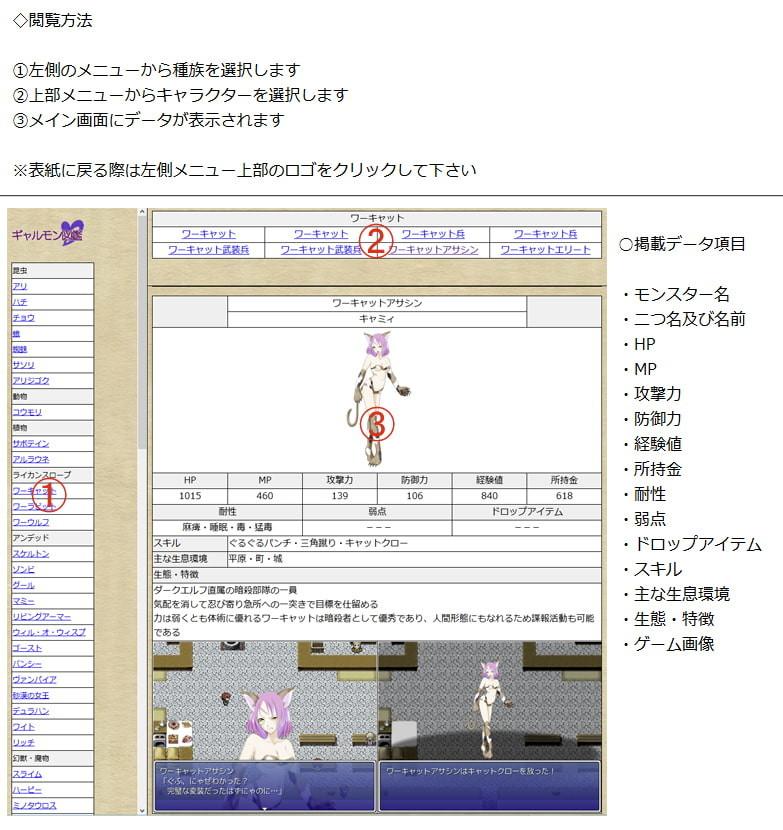 Galmon Folklore~Galmon Encyclopedia~ screenshot