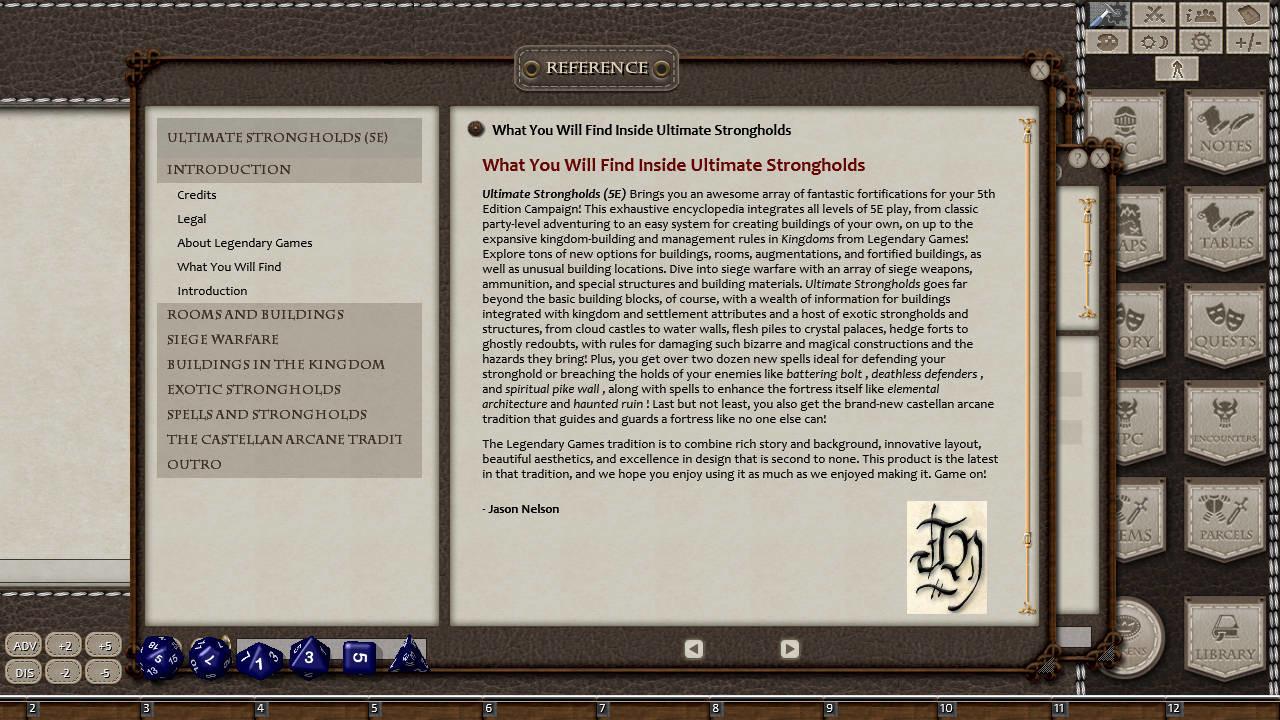 Fantasy Grounds - Ultimate Strongholds screenshot