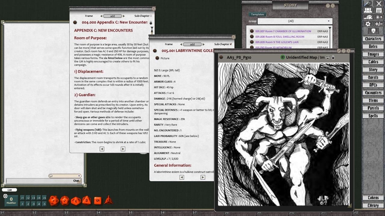 Fantasy Grounds - Advanced Adventures #3: The Curse of the Witch Head screenshot