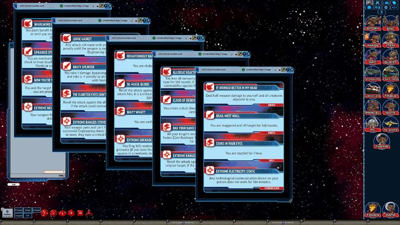 Fantasy Grounds - Starfinder RPG - Starfinder Critical Fumble Deck screenshot