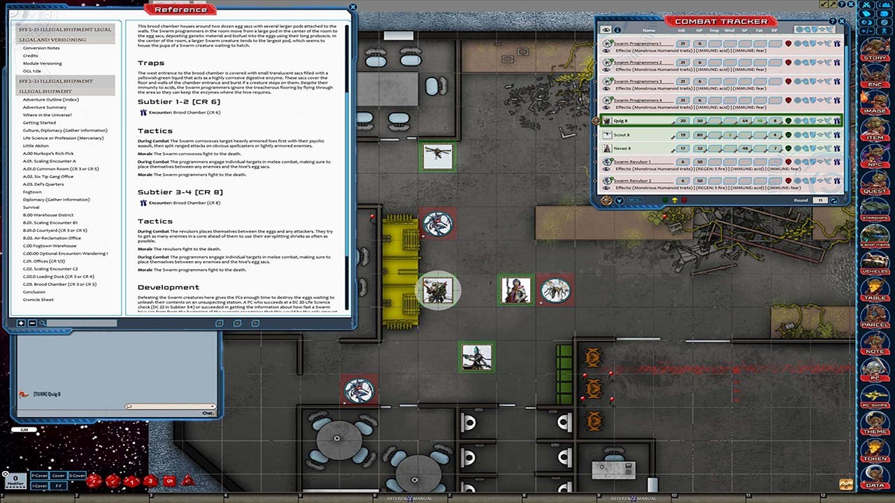 Fantasy Grounds - Starfinder RPG - Starfinder Society Scenario #2-21: Illegal Shipment screenshot