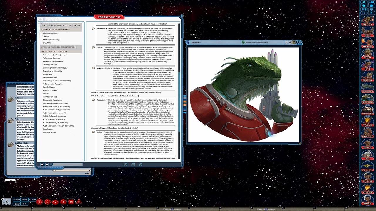 Fantasy Grounds - Starfinder RPG - Starfinder Society Scenario #2-22: Rasheen's Reception screenshot