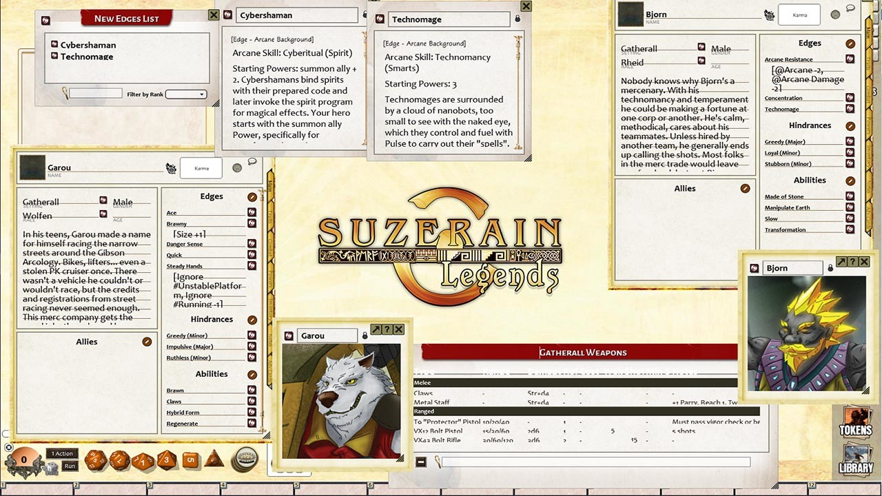 Fantasy Grounds - Gatherall JumpStart screenshot