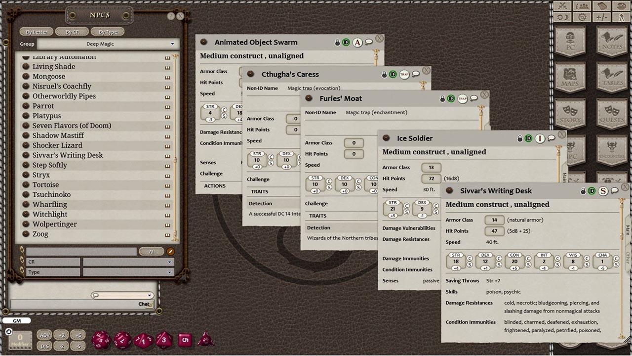 Fantasy Grounds - Deep Magic screenshot