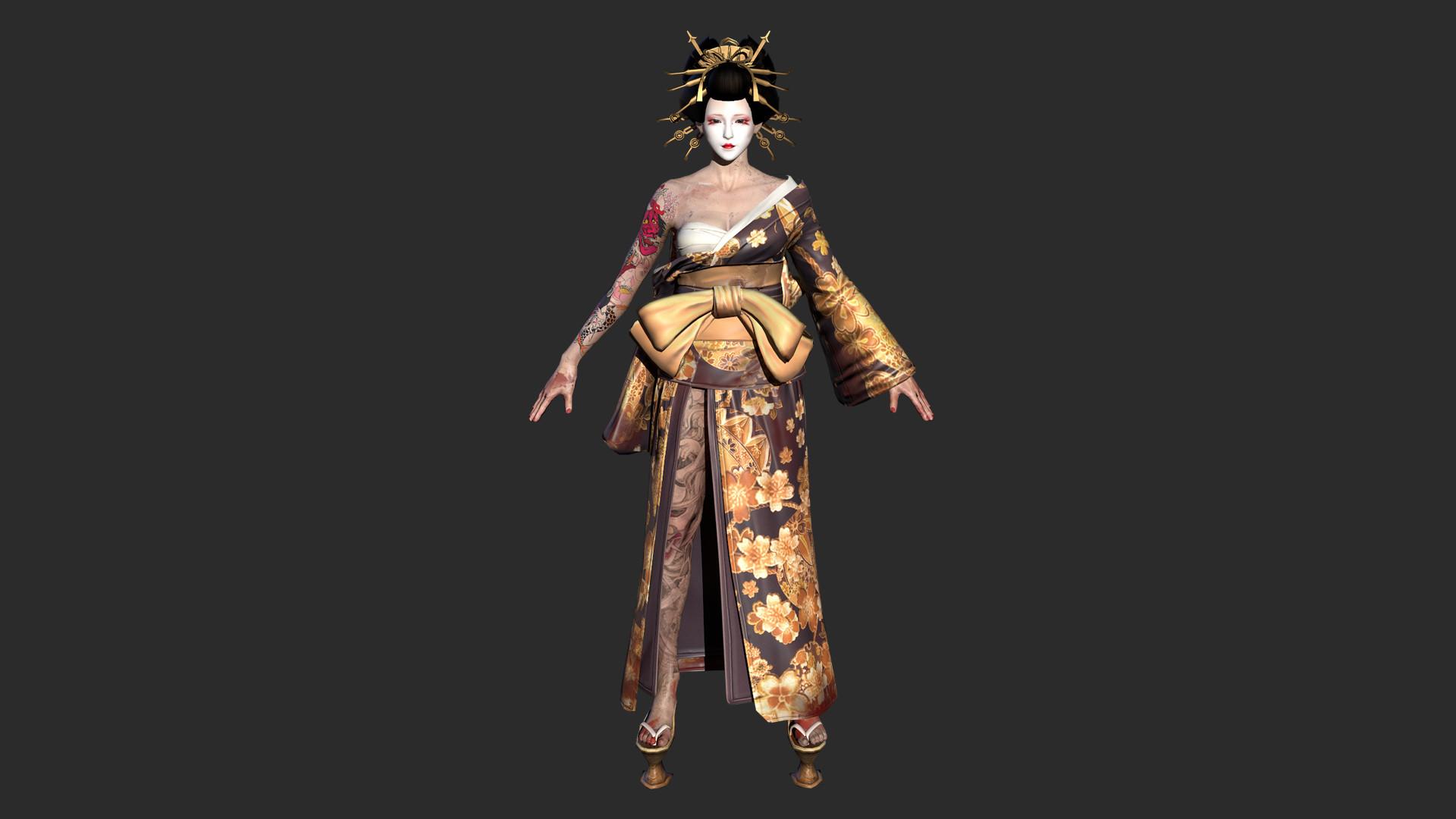 "灵魂筹码 - 花傀浮世乐套装 Soul at Stake - ""Ukiyoe"" The Geisha's Kimono screenshot"