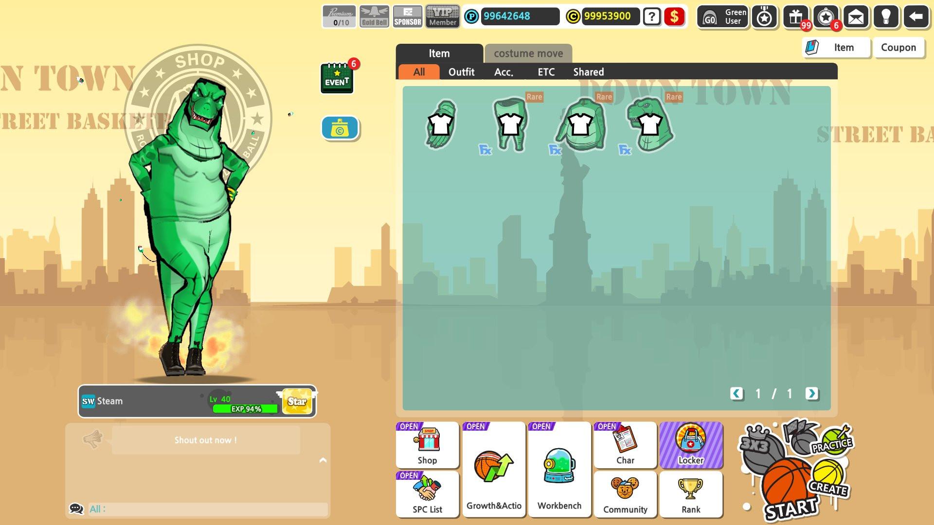 Freestyle2 - Blue Dinosaur Set screenshot