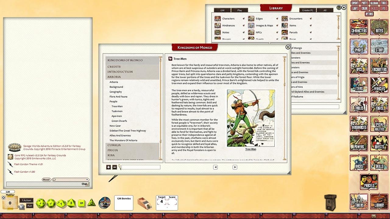 Fantasy Grounds - Flash Gordon Kingdoms of Mongo screenshot