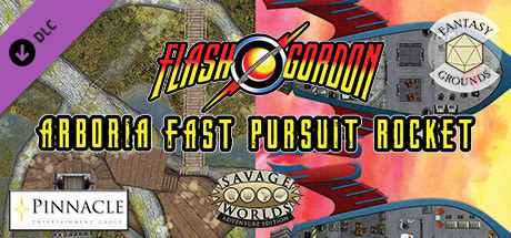 Fantasy Grounds - Flash Gordon Combat Map 1: Arboria + Fast Pursuit Rocket