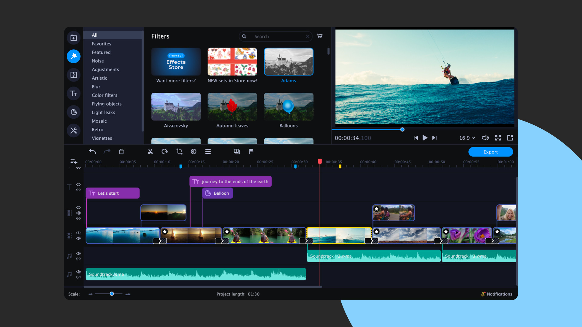 Movavi Video Suite 2021 Steam Edition -- Video Making Software - Video Editor, Screen Recorder and Video Converter screenshot