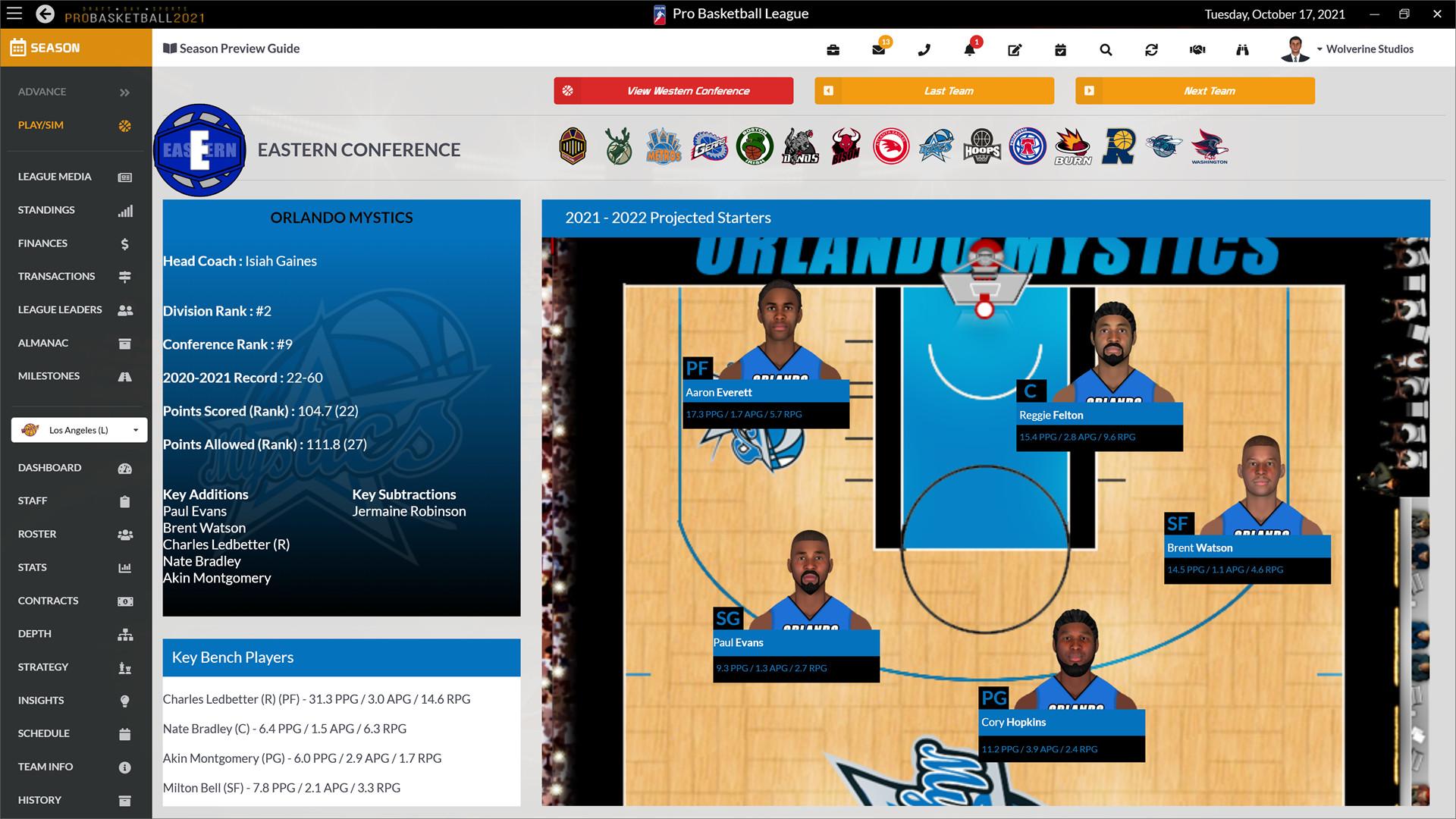 Draft Day Sports: Pro Basketball 2021 screenshot