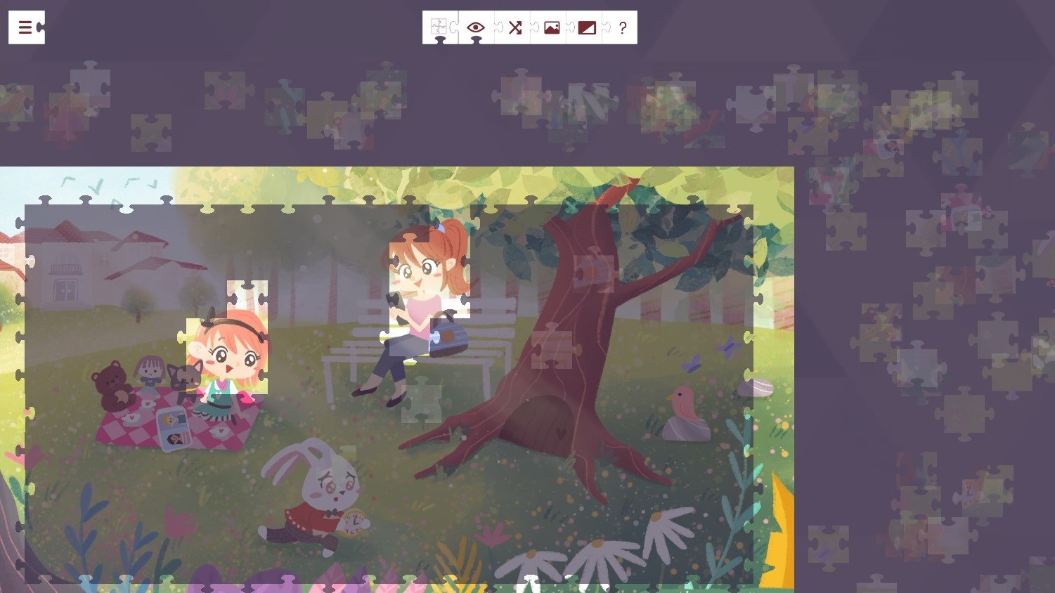 Alice in Wonderland - a jigsaw puzzle tale screenshot