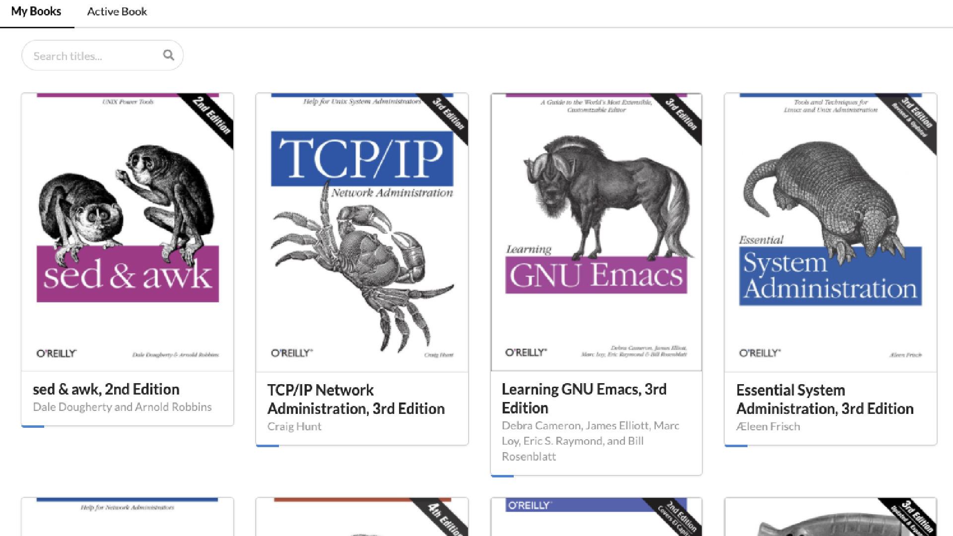 Bookshelf screenshot