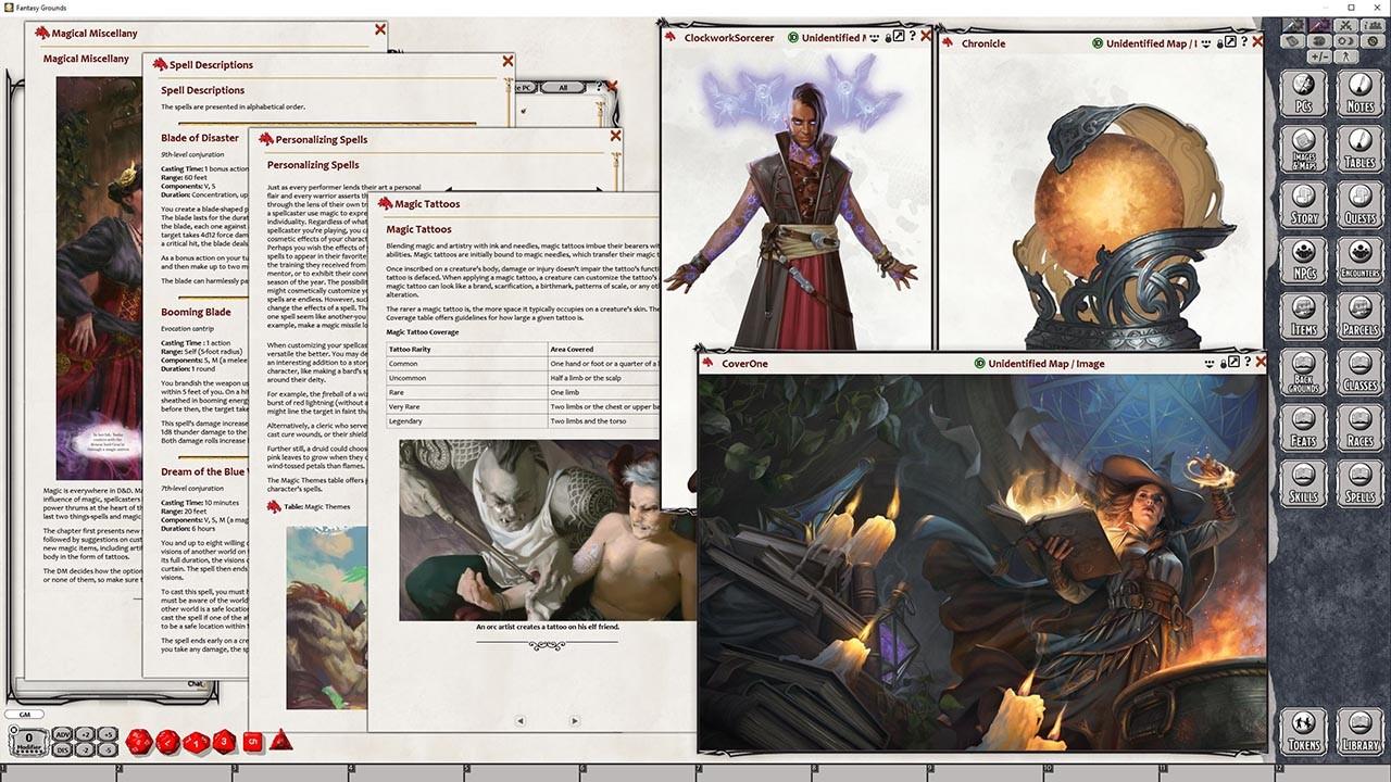 Fantasy Grounds - D&D Tasha's Cauldron of Everything screenshot