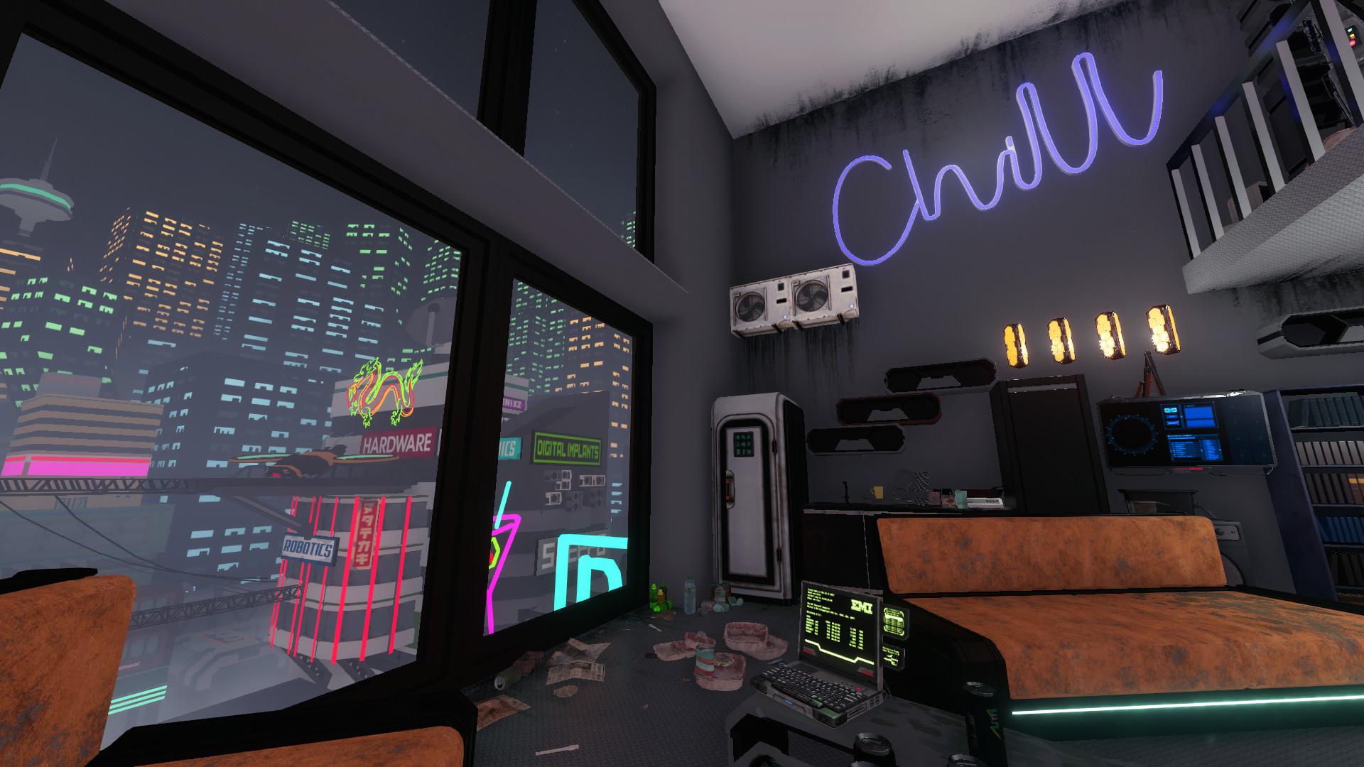 House Flipper - Cyberpunk DLC screenshot