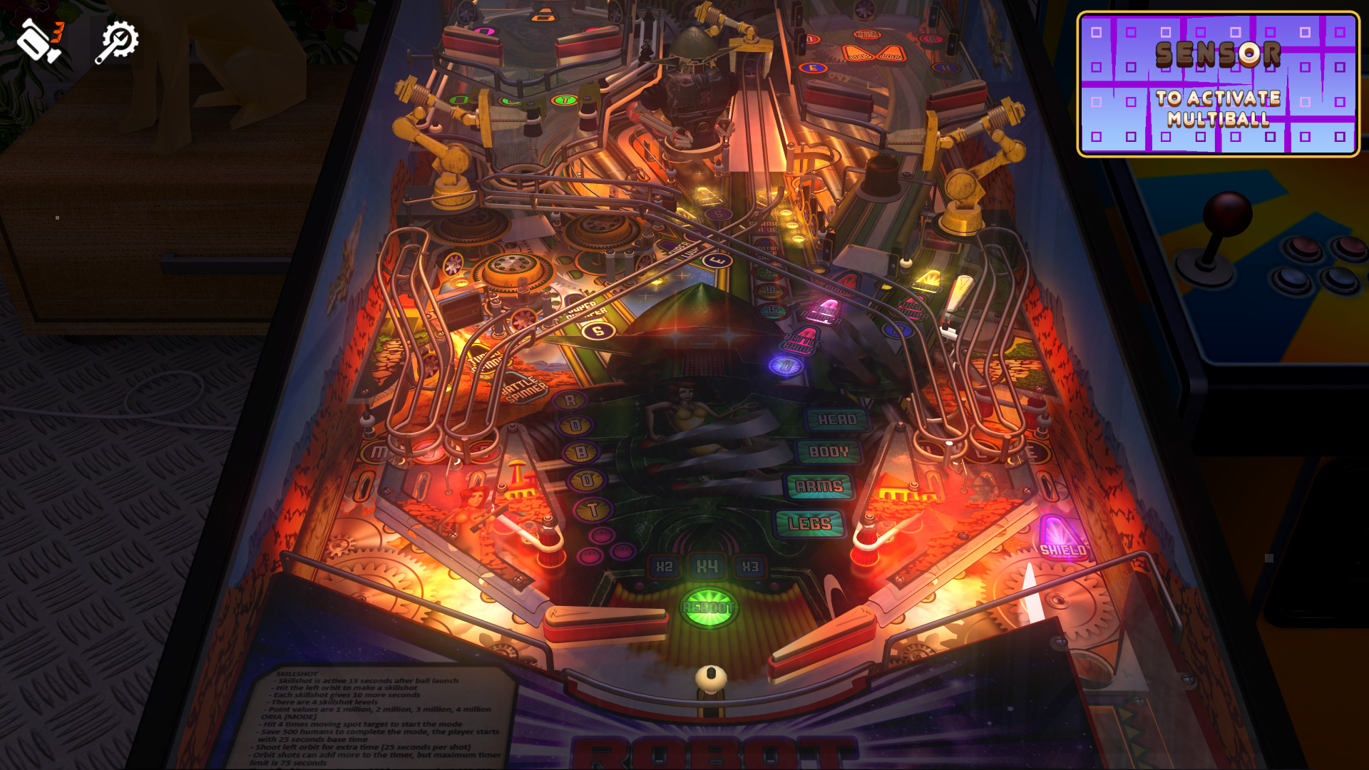Zaccaria Pinball - Robot Deluxe Pinball Table screenshot