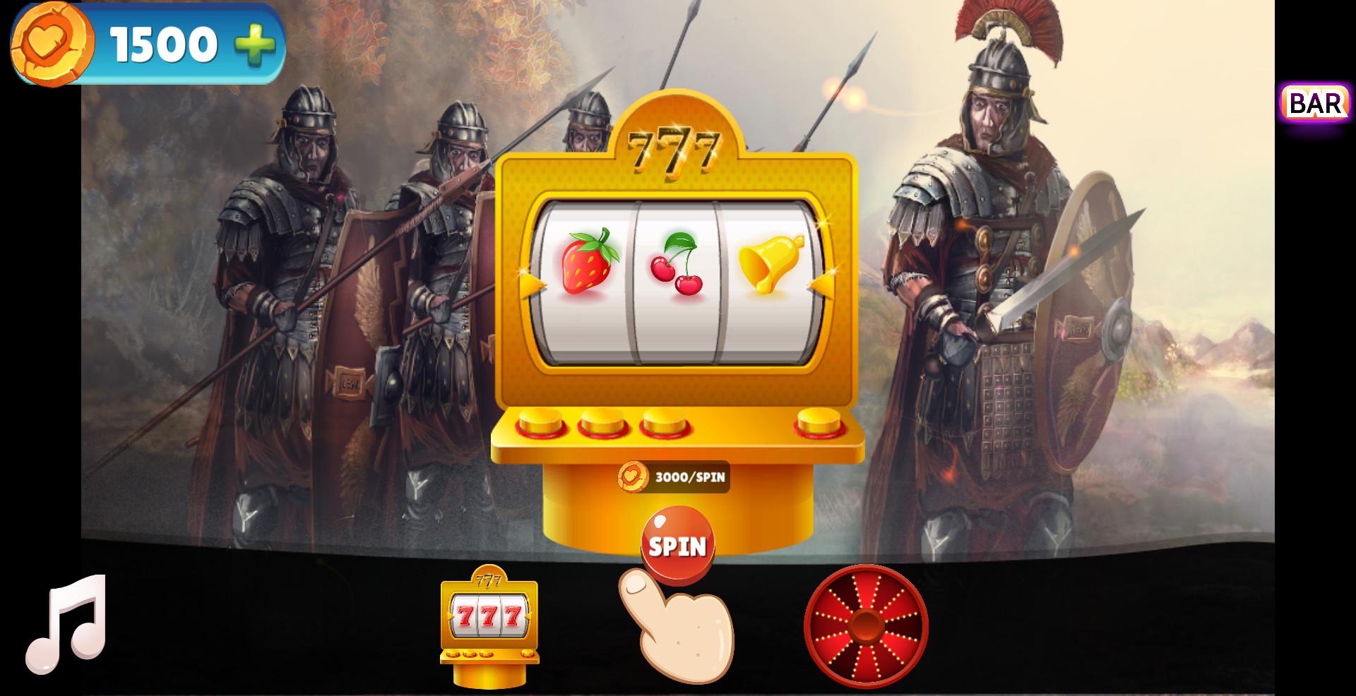 Ancient Warriors Casino Jackpot screenshot