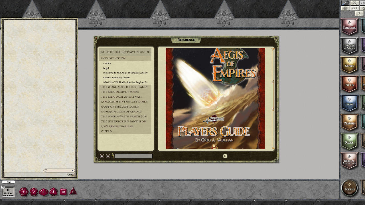 Fantasy Grounds - Aegis of Empires Player's Guide screenshot