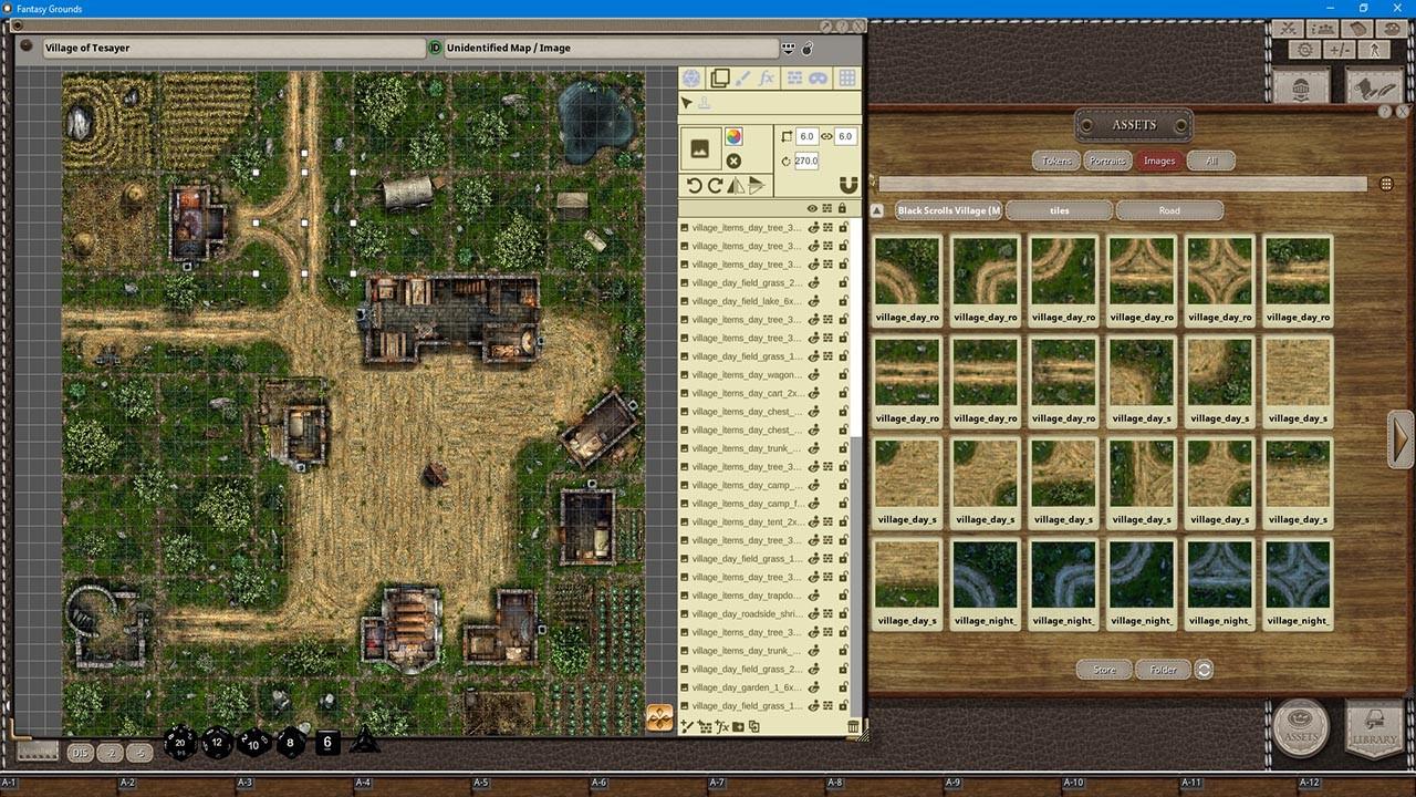 Fantasy Grounds - Black Scrolls Village (Map Tile Pack) screenshot