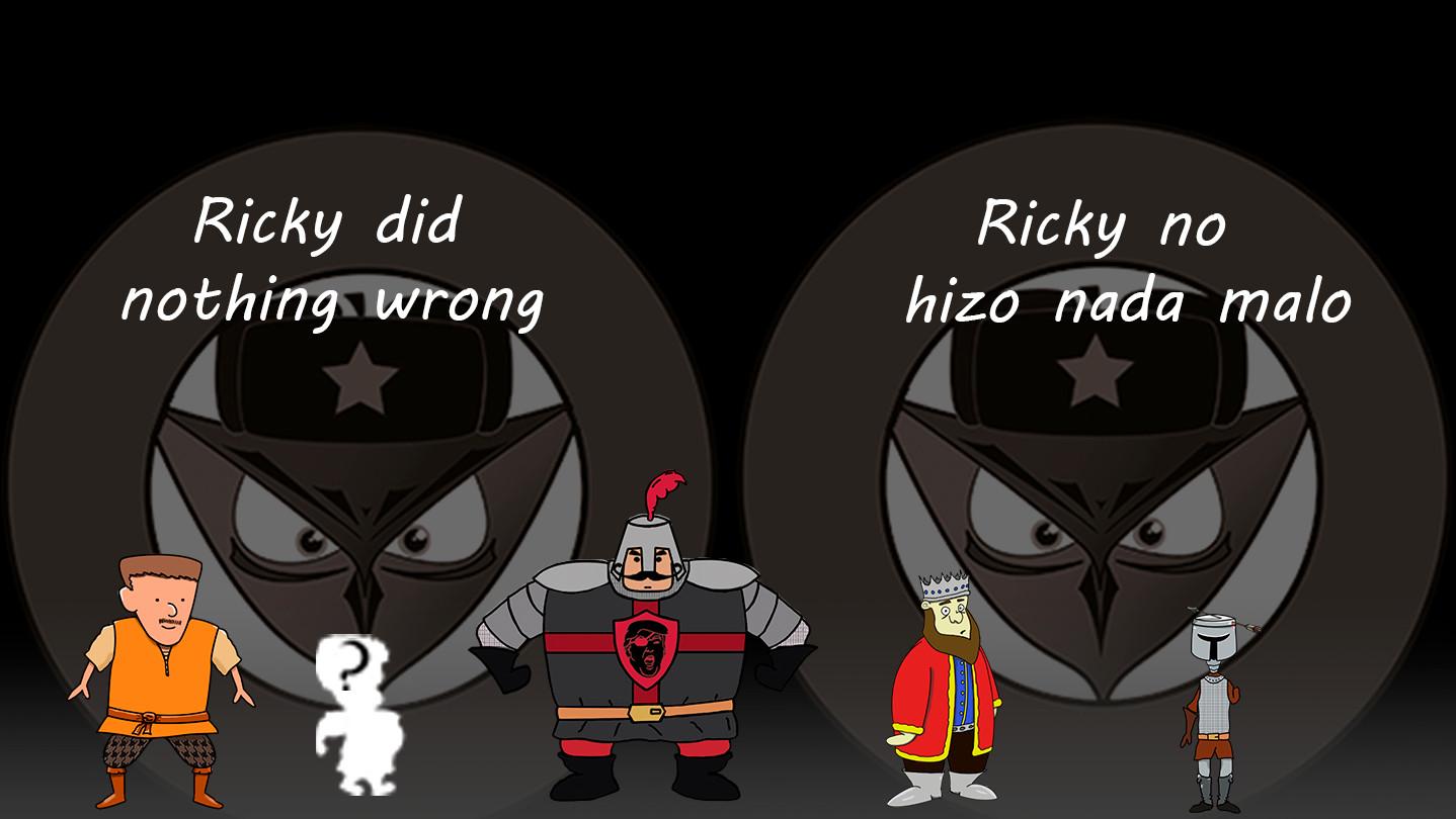 Ricky did nothing wrong screenshot