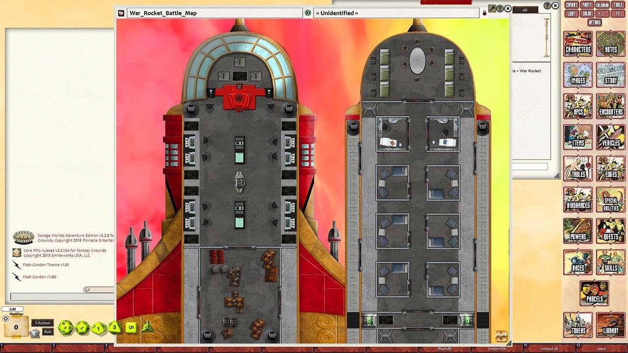 Fantasy Grounds - Flash Gordon Combat Map 2: Coralia + War Rocket screenshot