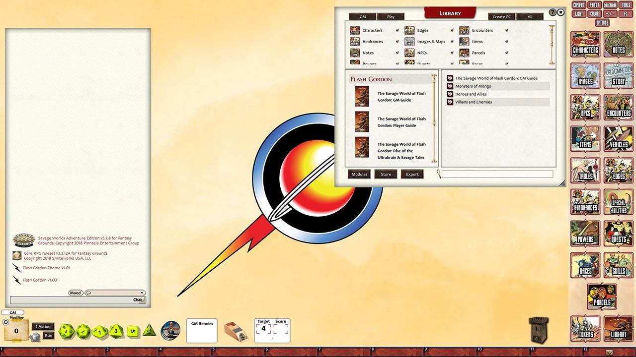 Fantasy Grounds - Flash Gordon RPG screenshot