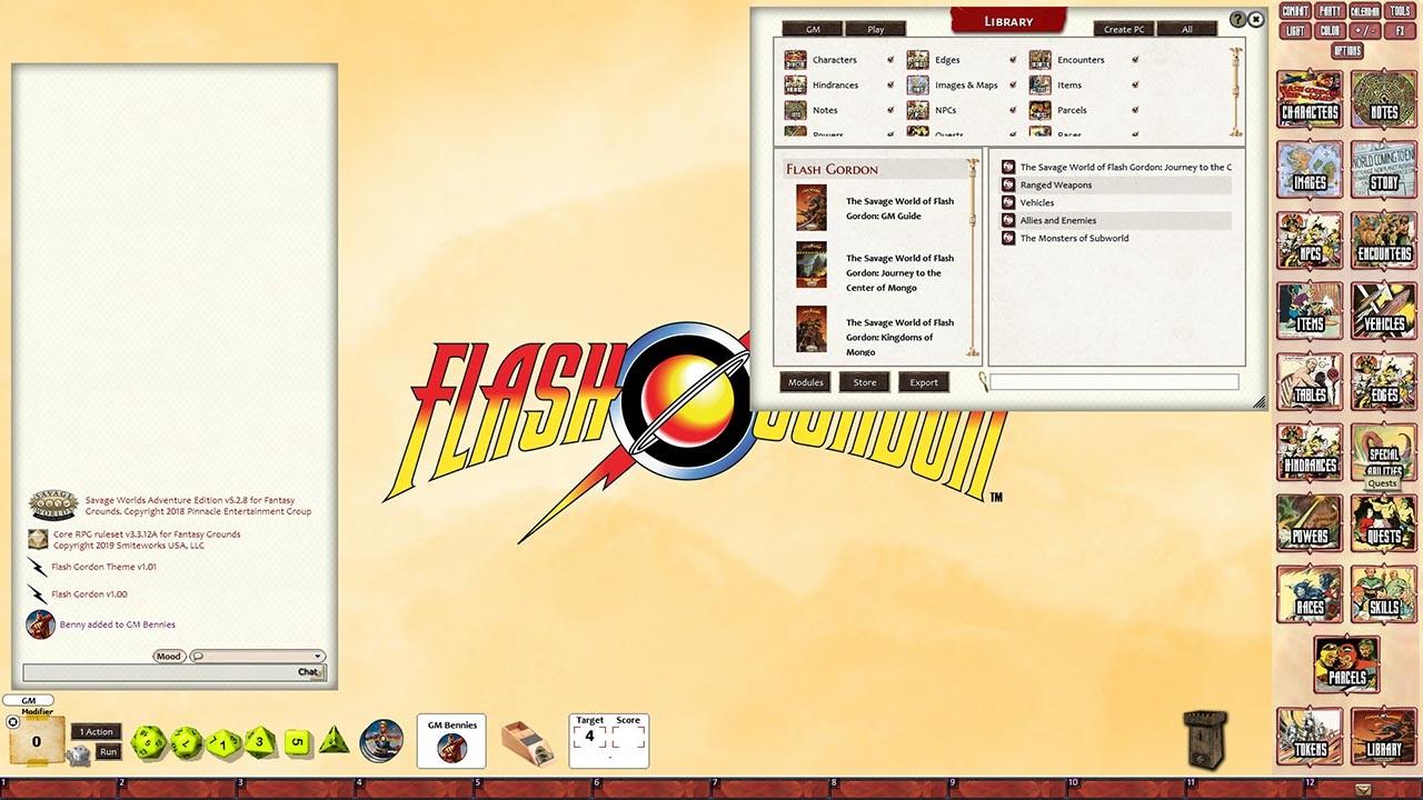Fantasy Grounds - Flash Gordon Journey to the Center of Mongo Adventure screenshot