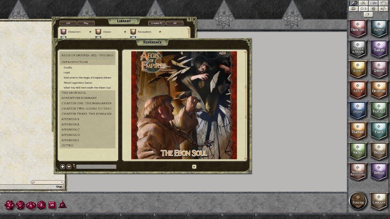 Fantasy Grounds - Aegis of Empires - AE2 - The Ebon Soul (PFRPG) screenshot