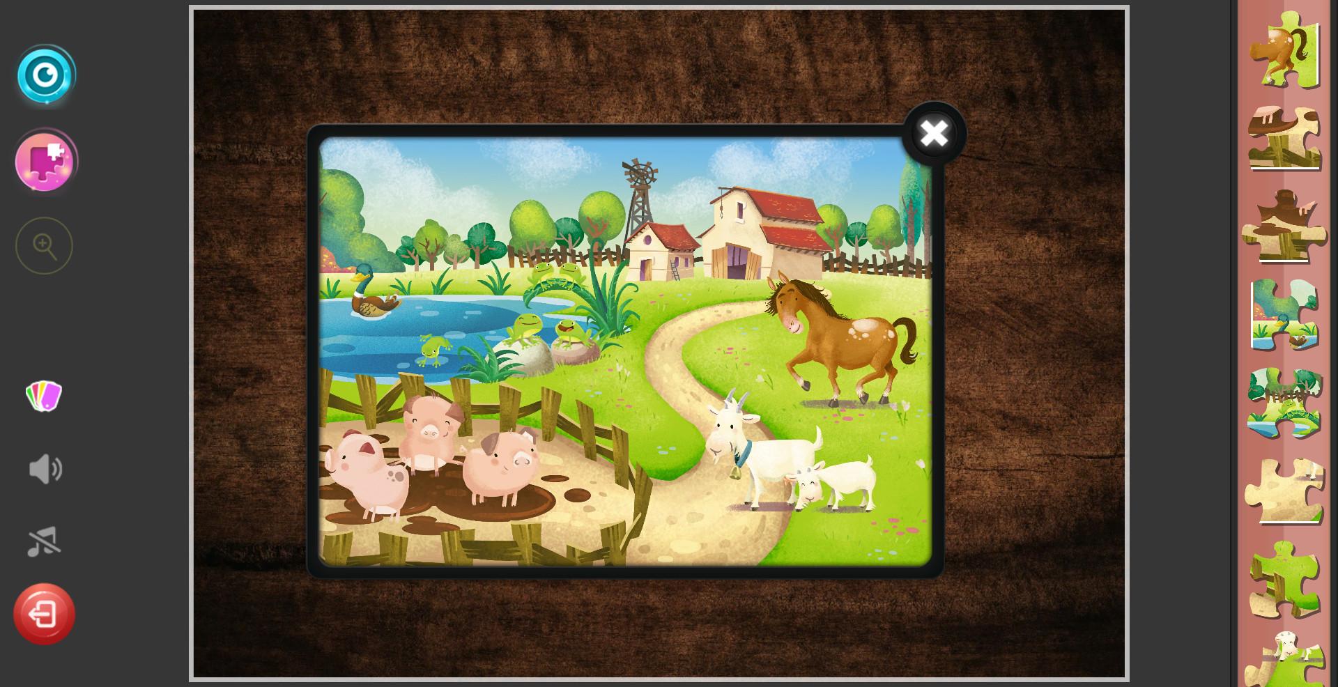 Children's Jigsaw Puzzles - Magic Kindergarten screenshot