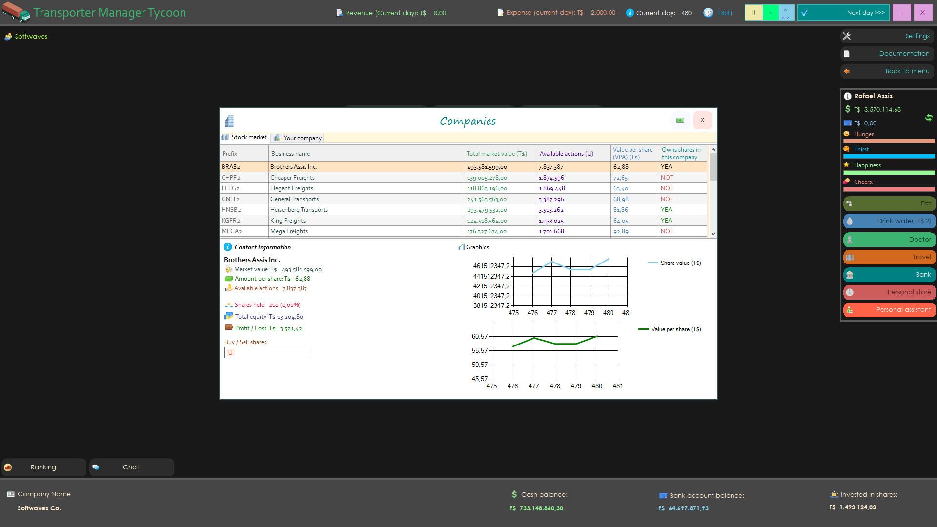Transporter Manager Tycoon screenshot