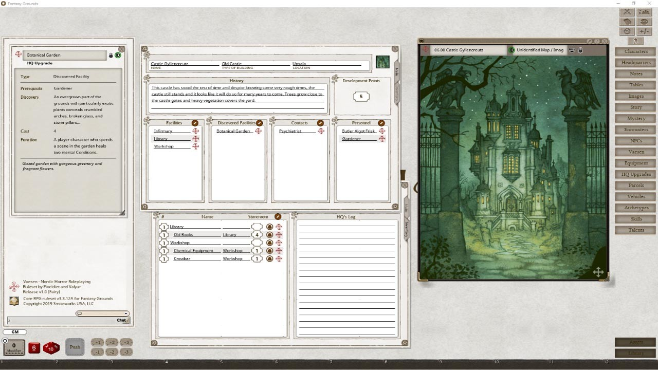 Fantasy Grounds - Vaesen - Nordic Horror Roleplaying screenshot