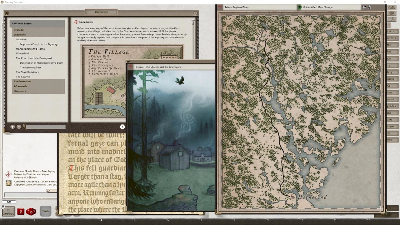 Fantasy Grounds - A Wicked Secret & And Other Mysteries screenshot