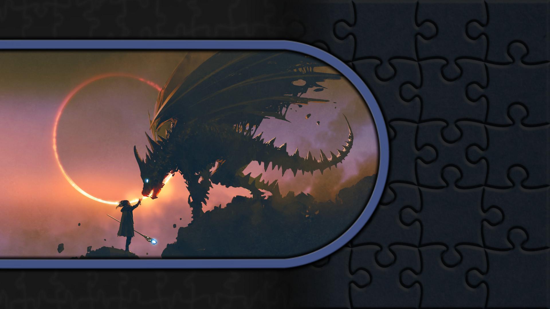 Pixel Puzzles Illustrations & Anime - Jigsaw Pack: Dragons screenshot