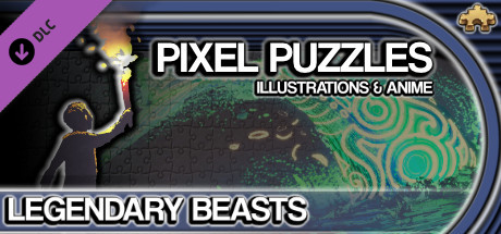 Pixel Puzzles Illustrations & Anime - Jigsaw Pack: Legendary Beasts