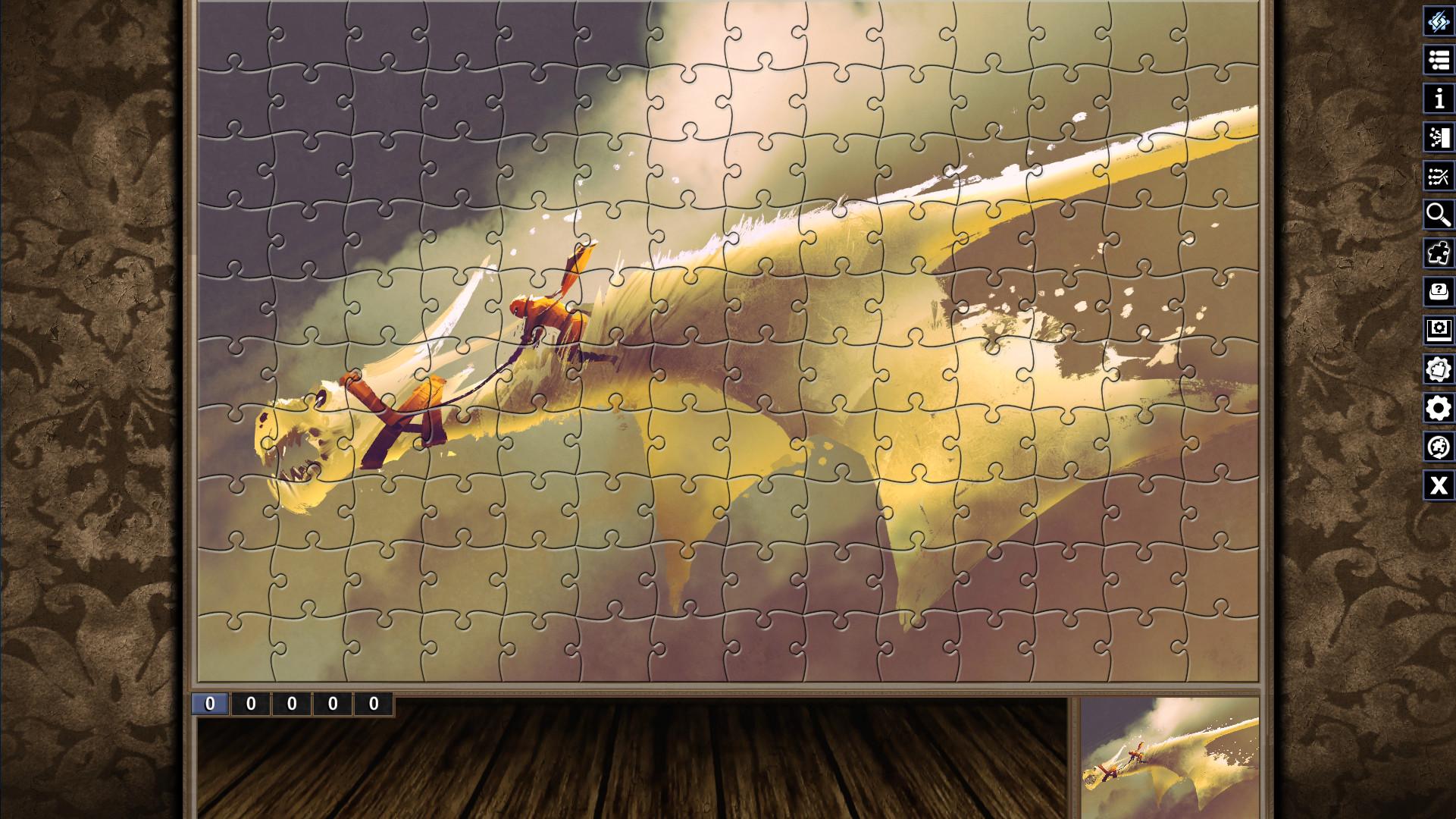 Pixel Puzzles Illustrations & Anime - Jigsaw Pack: Legendary Beasts screenshot