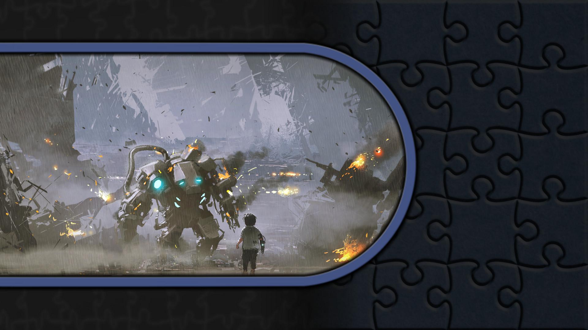 Pixel Puzzles Illustrations & Anime - Jigsaw Pack: Sci-Fi screenshot