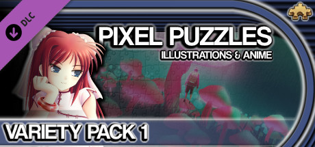Pixel Puzzles Illustrations & Anime - Jigsaw Pack: Variety Pack 1