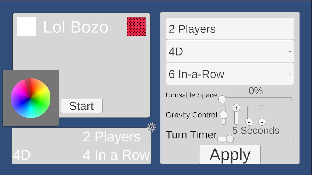 MultiDimensional 4-in-a-row screenshot