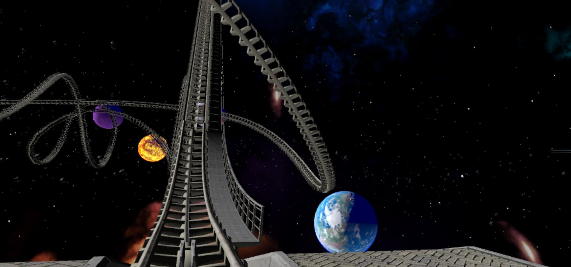 VR Galactic Roller Coaster screenshot