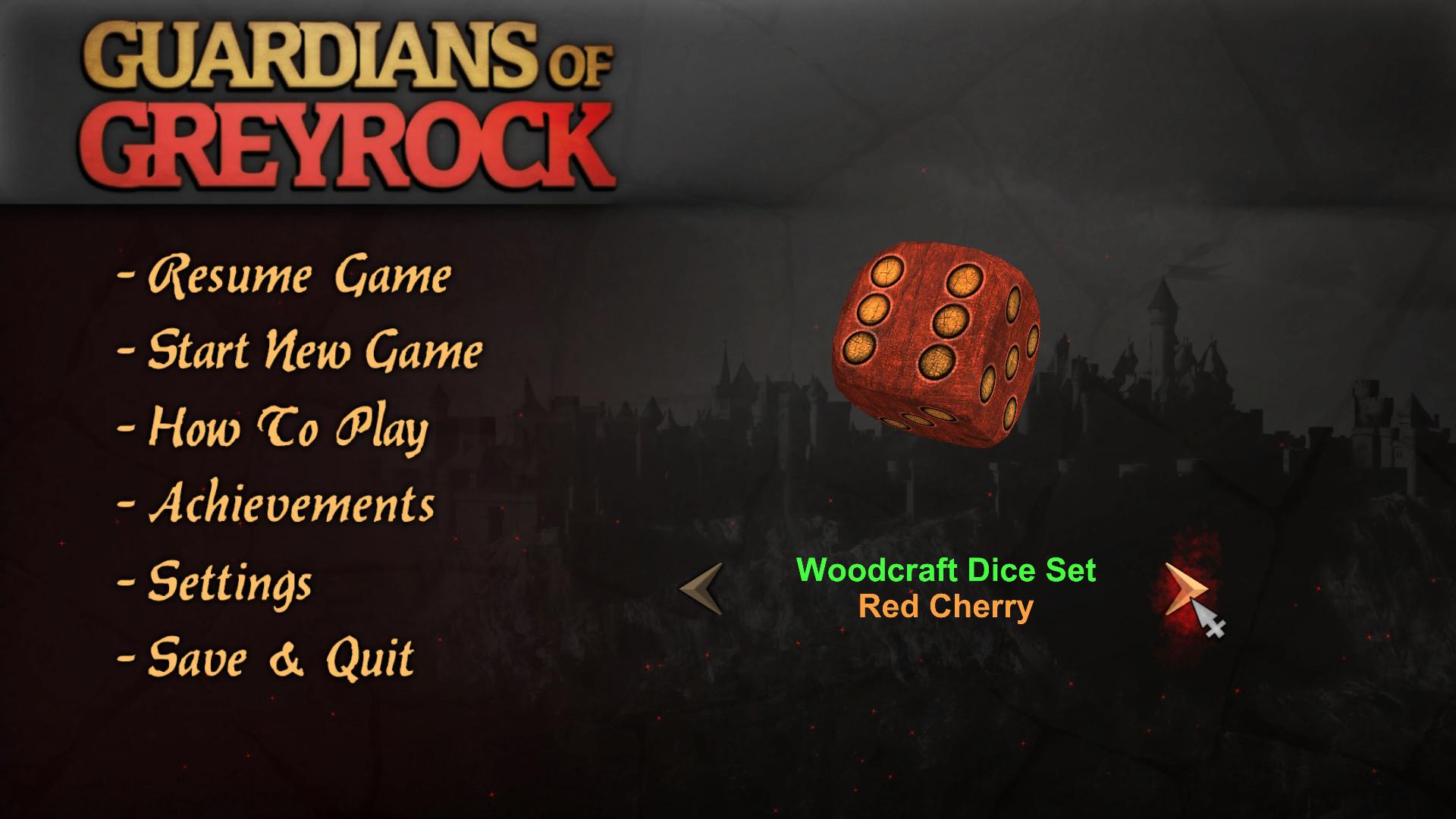 Guardians of Greyrock - Dice Pack: Woodcraft Set screenshot