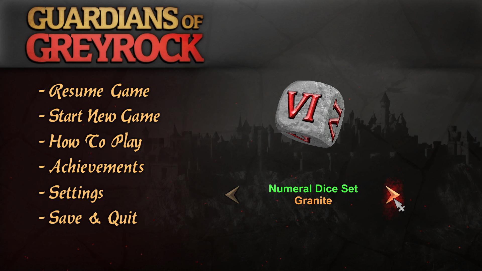 Guardians of Greyrock - Dice Pack: Numeral Set screenshot