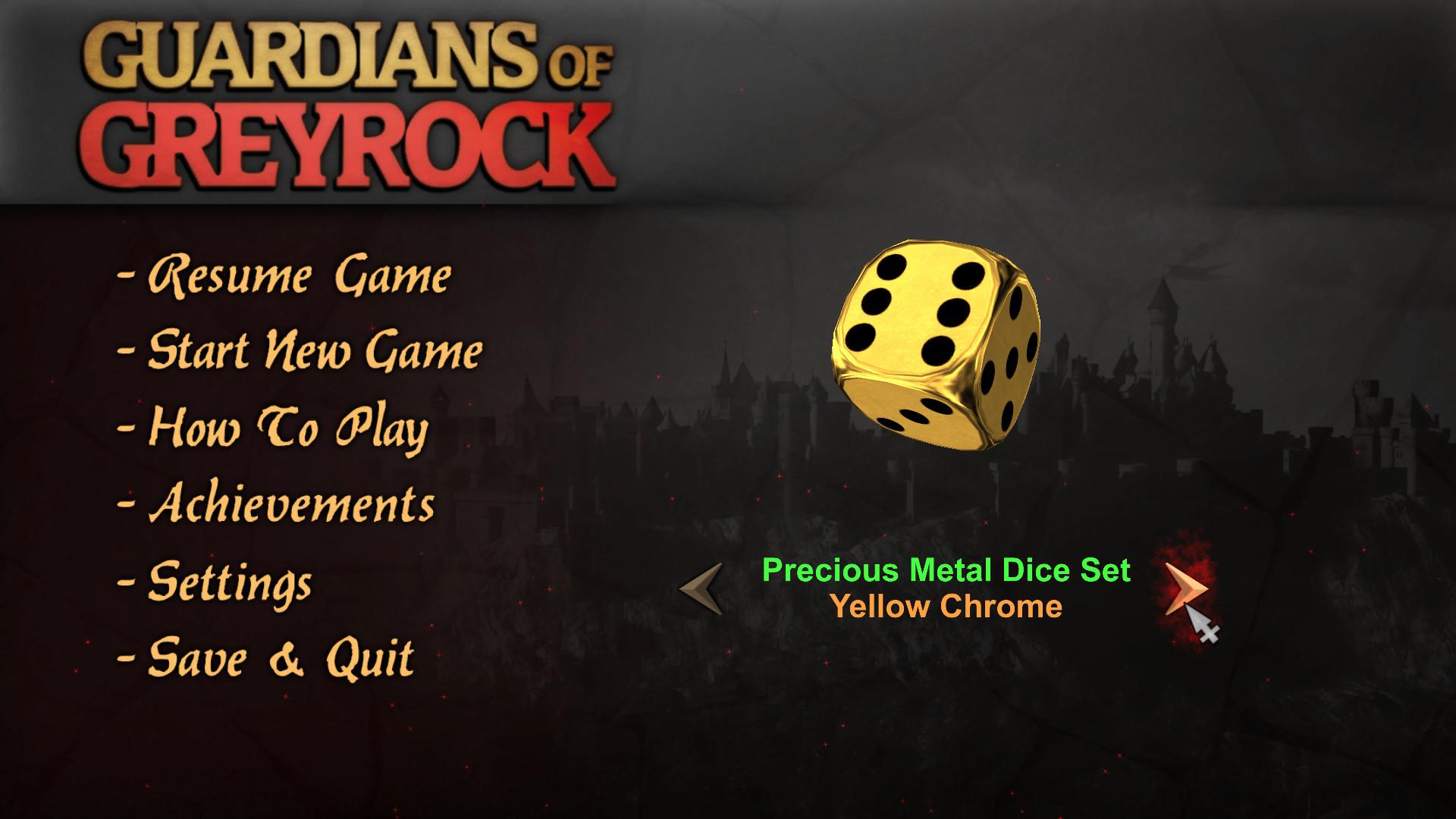 Guardians of Greyrock - Dice Pack: Precious Metal Set screenshot