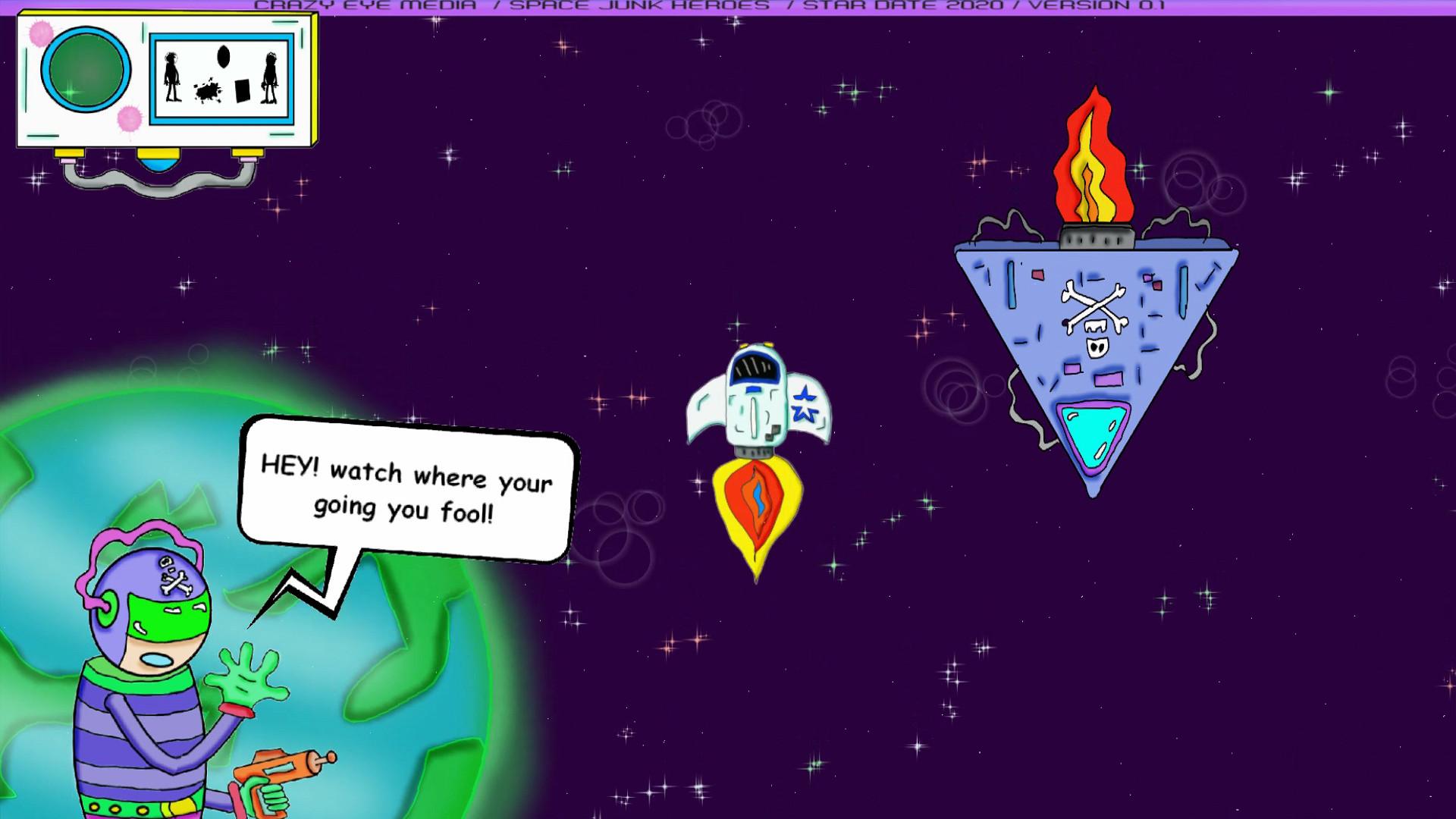 SPACE JUNK HEROES screenshot