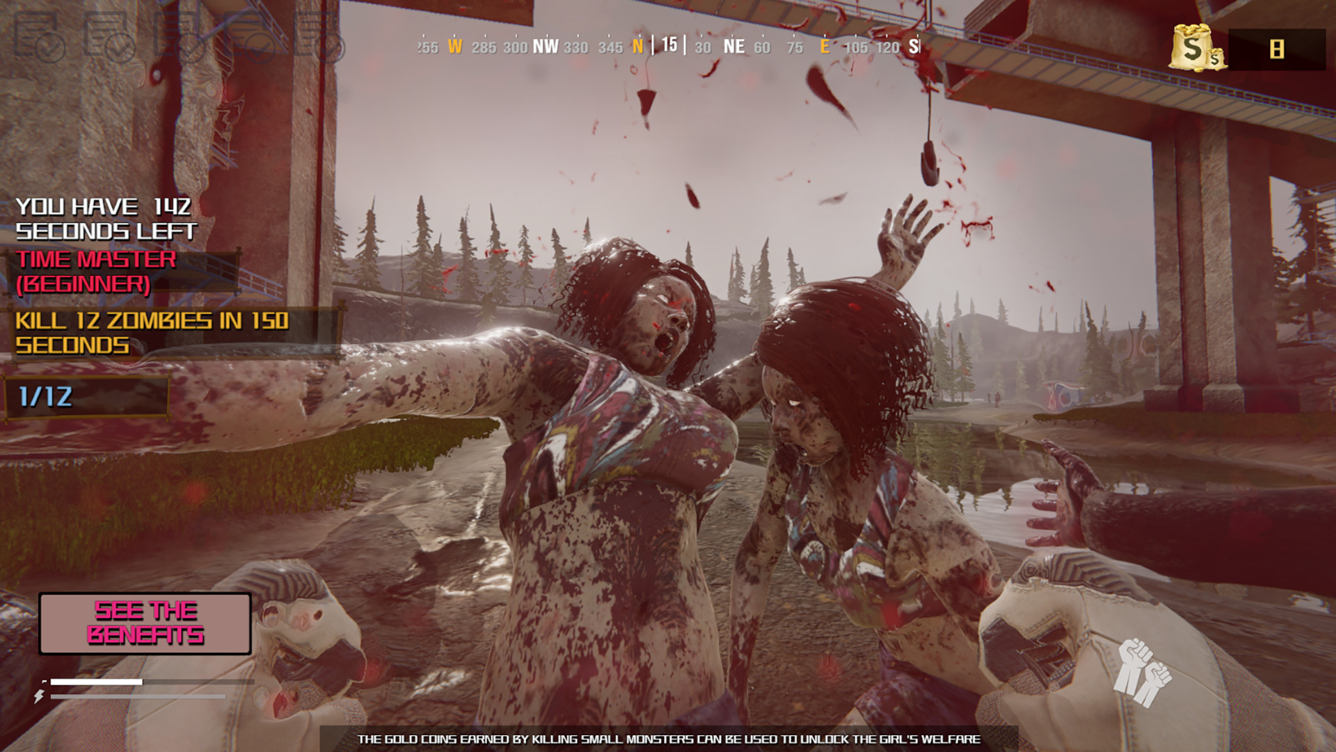 Save the girls Action screenshot