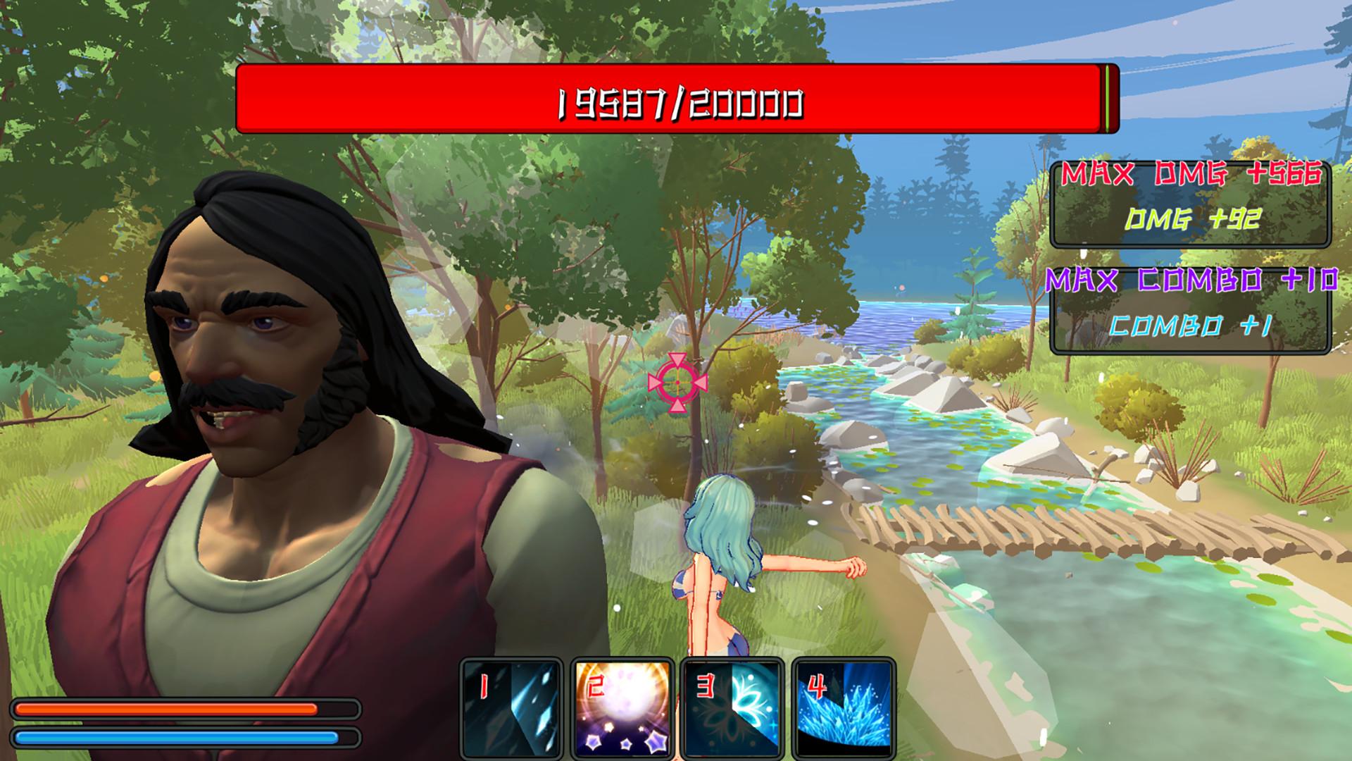 Pretty girls teach beefy guys screenshot