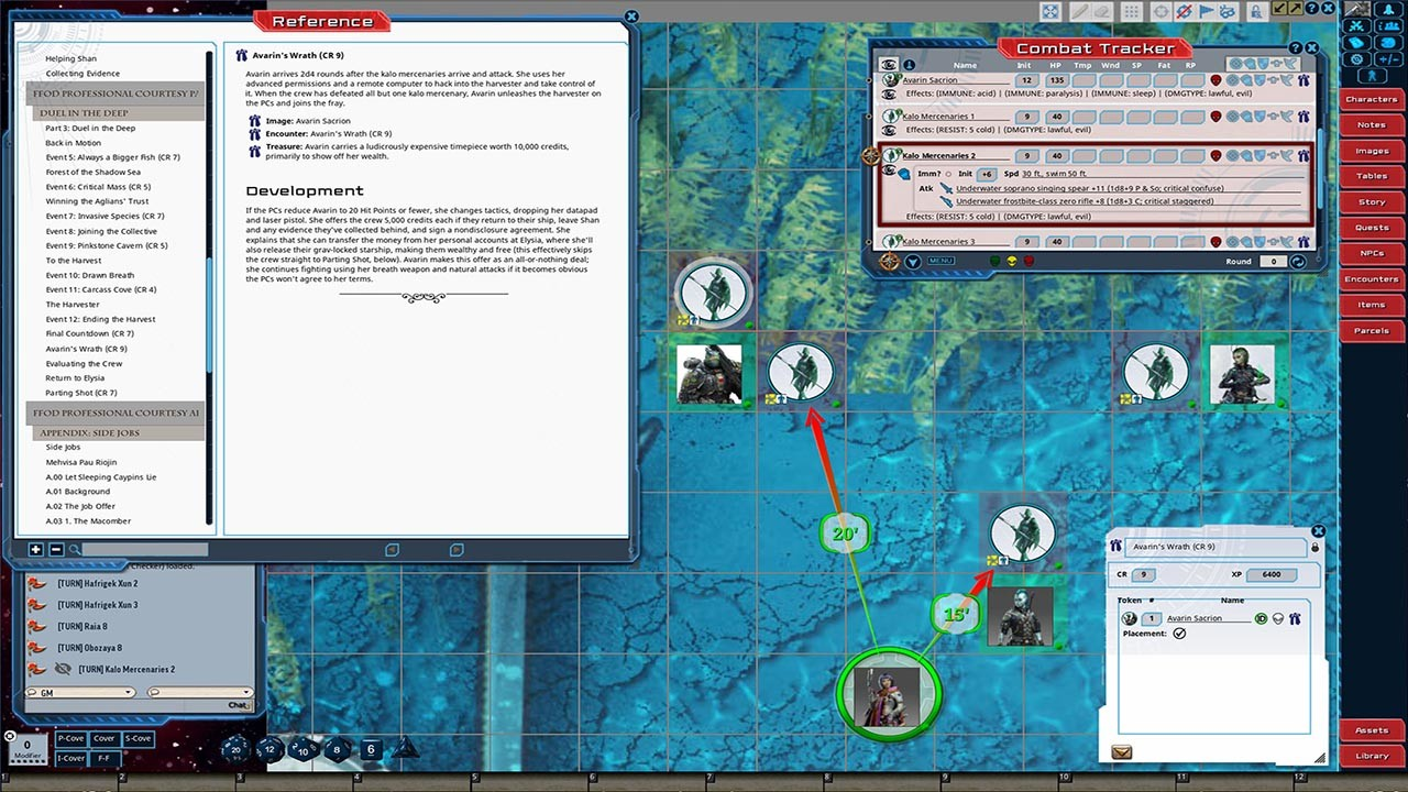 Fantasy Grounds - Starfinder RPG - Adventure Path #36: Professional Courtesy (Fly Free or Die 3 of 6) screenshot