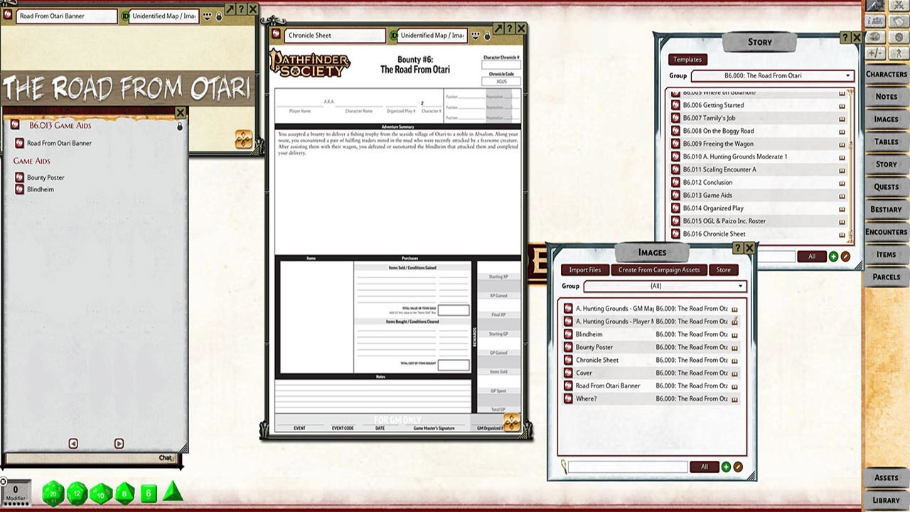Fantasy Grounds - Pathfinder RPG - Pathfinder Bounty #6: The Road from Otari screenshot