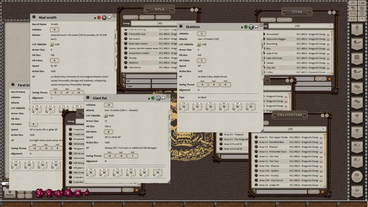Fantasy Grounds - Dungeon Crawl Classics #82.5: Dragora's Dungeon screenshot